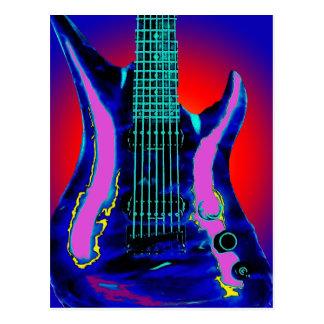 Cartão Postal Guitarra da aguarela