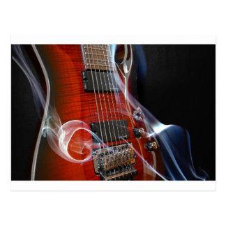 Cartão Postal Guitarra da Sete-Corda das cordas da guitarra oito