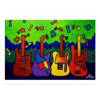 Cartão Postal Guitarra das naturezas por Piliero
