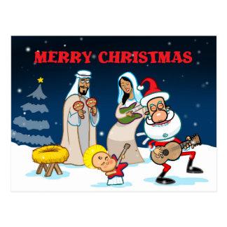 Cartão Postal Guitarra do Natal de solo