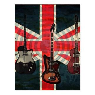 Cartão Postal Guitarra elétrica do rolo britânico da rocha da