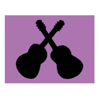 Cartão Postal guitarra pretas
