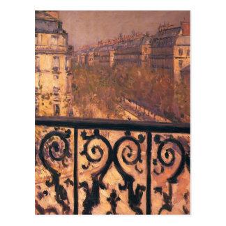 Cartão Postal Gustave Caillebotte- um balcão em Paris
