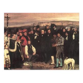 Cartão Postal Gustave Courbet- um enterro em Ornans
