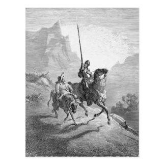 Cartão Postal Gustave Dore: Don Quixote e Sancho que expor