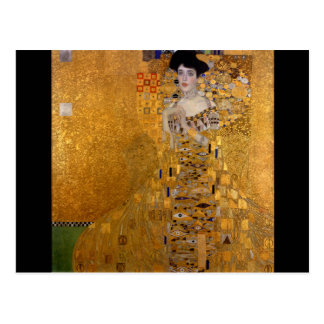 Cartão Postal Gustavo Klimt, Adele, nouveau da arte, deco, ouro,