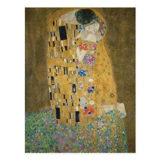 Cartão Postal Gustavo Klimt - o beijo