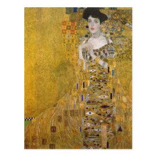 Cartão Postal Gustavo sumário Klimt Catal?: Retrat de l'Adele