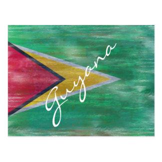 Cartão Postal Guyana afligiu a bandeira