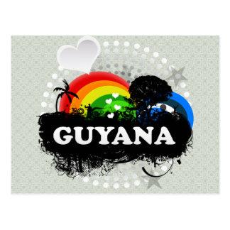 Cartão Postal Guyana frutado bonito