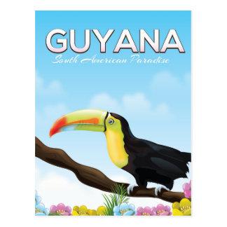 Cartão Postal Guyana sul - poster de viagens americano do