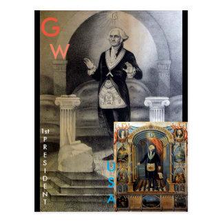 Cartão Postal GW, ø presidente dos EUA, Freemason G