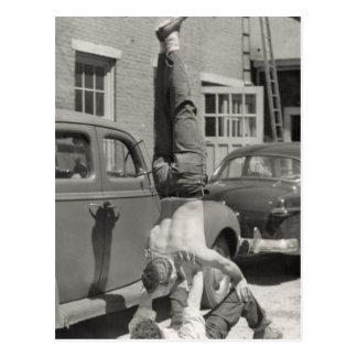 Cartão Postal Gymnasts do lubrificador