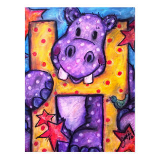 Cartão Postal H é para o hipopótamo