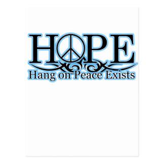 Cartão Postal H.O.P.E - O cair na paz existe