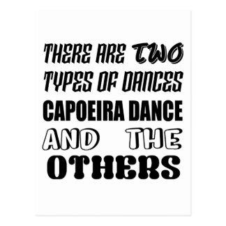 Cartão Postal Há dois tipos de dança de Capoeira da dança e do
