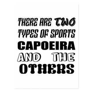 Cartão Postal Há dois tipos de esportes Capoeira e outro