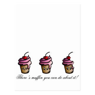 Cartão Postal Há muffin que você pode fazer sobre ele