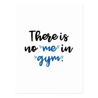 Cartão Postal Há nenhum mim no Gym
