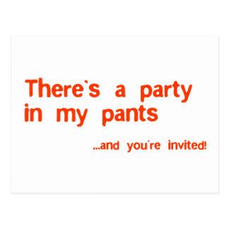 Cartão Postal Há um partido em minhas calças