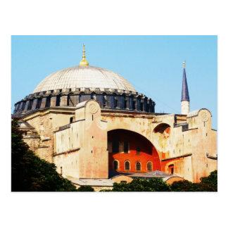 Cartão Postal Hagia Sophia na IMAGEM de Constantinople