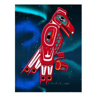 Cartão Postal Haida Eagle & design da arte do nativo americano