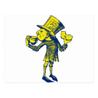 Cartão Postal Haigha (Hatter louco) cobriu o amarelo azul