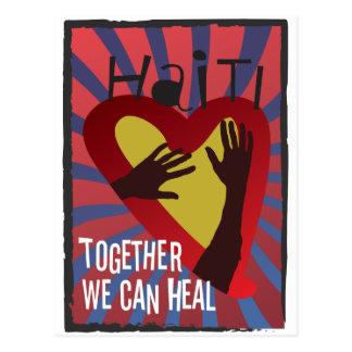 Cartão Postal HAITI - junto nós podemos curar