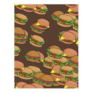 Cartão Postal Hamburger e cheeseburgers