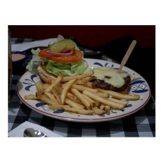 Cartão Postal Hamburger e fritadas