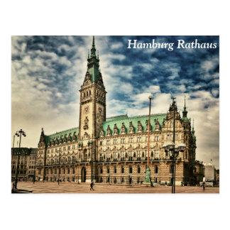Cartão Postal Hamburgo Rathaus, Alemanha