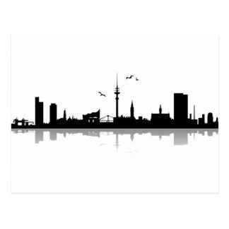 Cartão postal Hamburgo Skyline