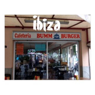 Cartão Postal Hamburguer de Ibiza Bumm