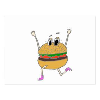 Cartão Postal hamburguer running