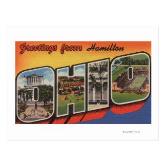 Cartão Postal Hamilton, Ohio - grandes cenas da letra