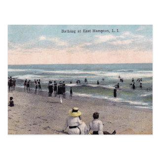 Cartão Postal Hampton do leste NY, Long Island, vintage da cena