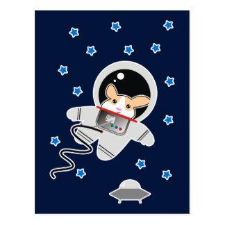 Cartão Postal Hamster do astronauta