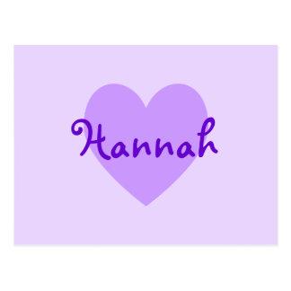 Cartão Postal Hannah no roxo