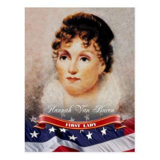 Cartão Postal Hannah Van Buren, primeira senhora dos E.U.
