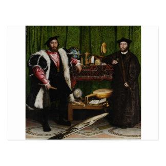 Cartão Postal Hans Holbein mais novos os embaixadores
