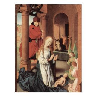Cartão Postal Hans Memling- a natividade
