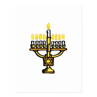 Cartão Postal Hanukkah Menorah