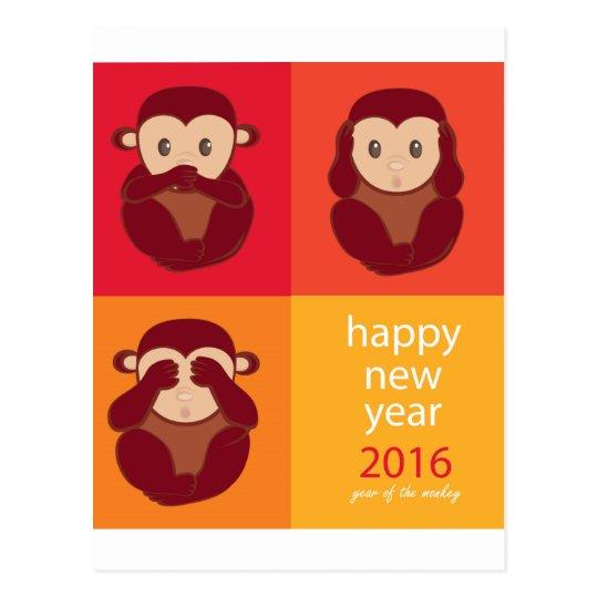 Cartão Postal Happy New Year 2016