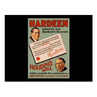 Cartão Postal Hardeen herda os segredos do seu irmão