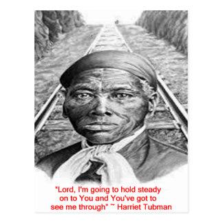 """Cartão Postal Harriet Tubman & da """"senhor constante"""" citações"""