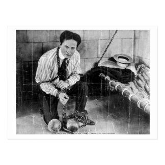 Cartão Postal Harry Houdini aproximadamente a escapar da prisão