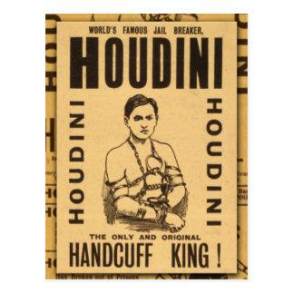 Cartão Postal Harry Houdini, rei da algema!