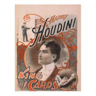 """Cartão Postal Harry Houdini, """"rei teatro do vintage dos cartões"""""""