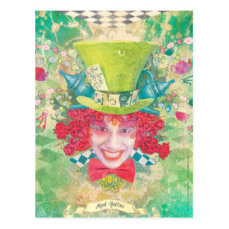 Cartão Postal Hatter louco