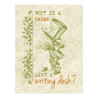 Cartão Postal Hatter louco, Alice no país das maravilhas